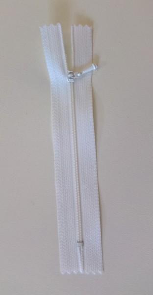 white 4 inch zipper