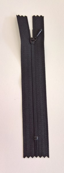 black 4 inch zipper