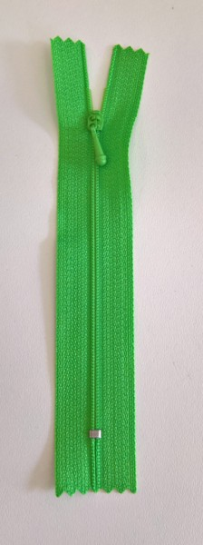 green 4 inch zipper