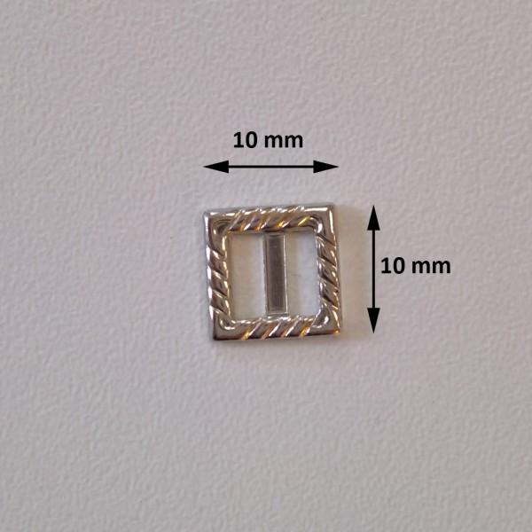 Silbern quadratische Schnalle