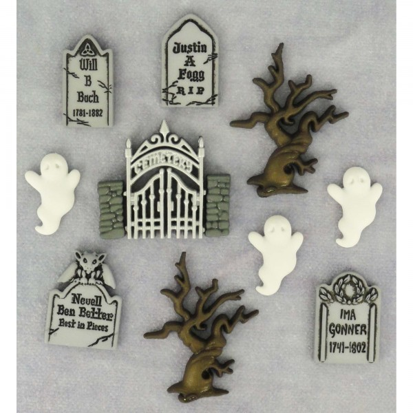 Halloween Graveyard Ghosts