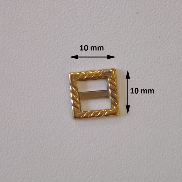 golden square buckle
